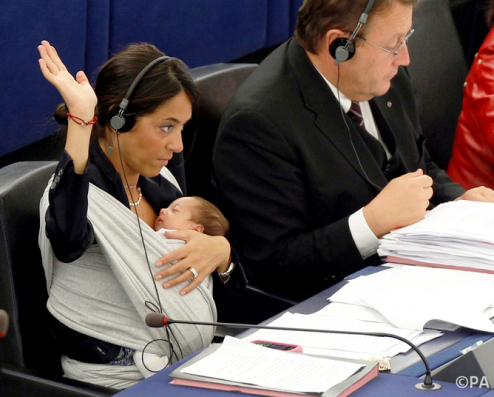 Image linked from http://tinyurl.com/jpr22dr Breastfeeding in the European Parliament